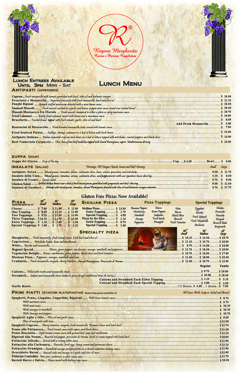 Lunch Menu Page 1